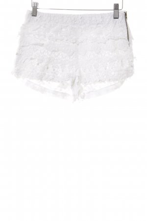 Zara Basic Hot Pants wollweiß Romantik-Look