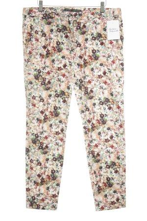 Zara Basic Low-Rise Trousers flower pattern casual look
