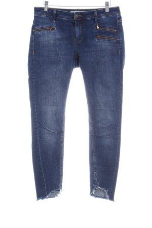 Zara Basic Hüftjeans dunkelblau Casual-Look