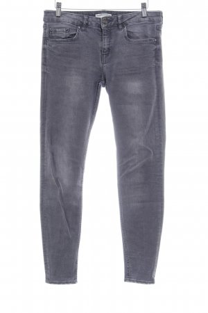 Zara Basic Hüftjeans grau Casual-Look