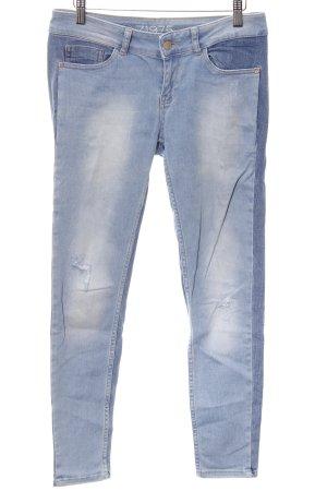 Zara Basic Hüftjeans himmelblau Casual-Look
