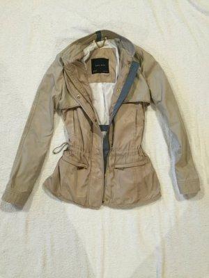 Zara Basic Jacke Parka Übergangsjacke beige XS 34