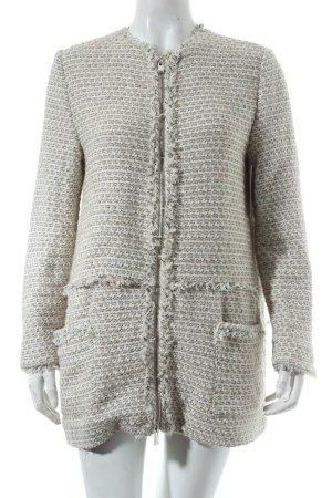 Zara Basic Jacke wollweiß-hellgrau Casual-Look