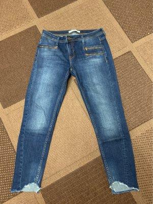 Zara Basic Tube Jeans dark blue
