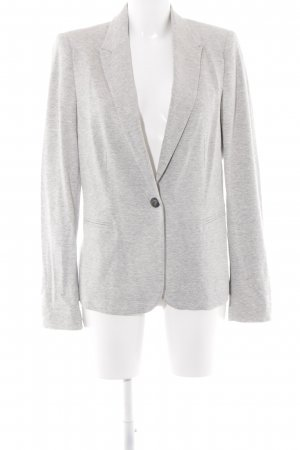 Zara Basic Denim Blazer light grey flecked boyfriend style