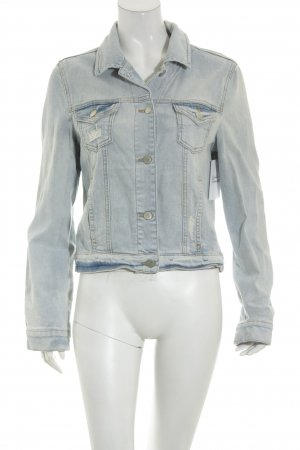 Zara Basic Jeansjacke blau Casual-Look