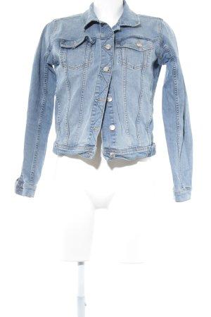Zara Basic Jeansjacke himmelblau-hellblau Casual-Look