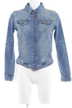 Zara Basic Veste en jean bleuet-bleu pâle style délavé
