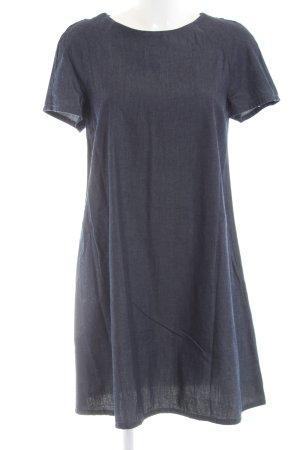 Zara Basic Vestido vaquero azul look casual