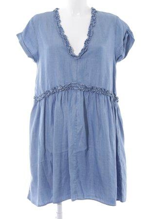 Zara Basic Jeanskleid stahlblau-himmelblau Casual-Look