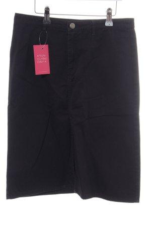 Zara Basic Gonna di jeans nero stile professionale
