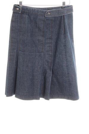 Zara Basic Jupe en jeans bleu style mode des rues