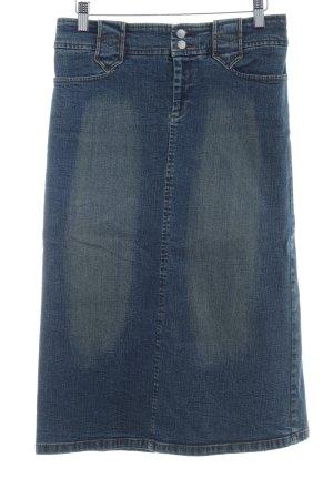 Zara Basic Spijkerrok blauw vintage uitstraling