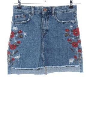 Zara Basic Jeansrock blau Casual-Look