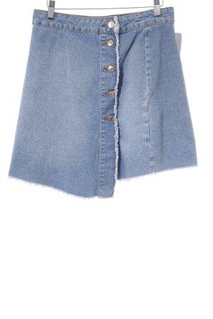 Zara Basic Jeansrock kornblumenblau Casual-Look