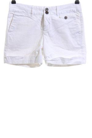 Zara Basic Pantaloncino di jeans bianco stile casual