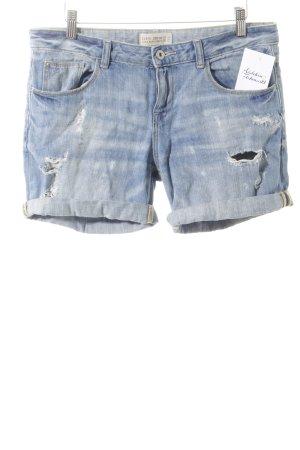 Zara Basic Pantaloncino di jeans blu stile casual