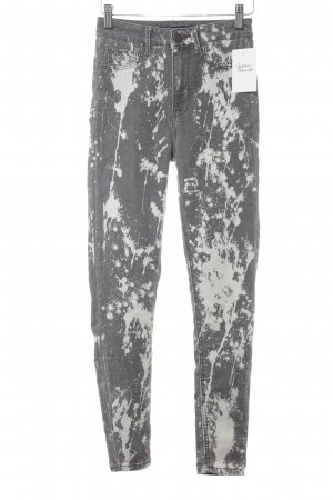 Zara Basic Jeggings grey-light grey spots-of-color pattern casual look