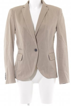 Zara Basic Jerseyblazer beige-dunkelblau Business-Look