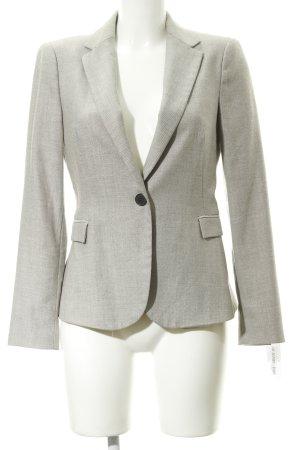 Zara Basic Jerseyblazer beige-dunkelbraun Allover-Druck Business-Look