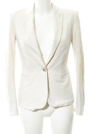 Zara Basic Jerseyblazer creme meliert Casual-Look