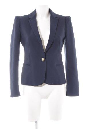 Zara Basic Jersey Blazer azul oscuro-color oro estilo «business»