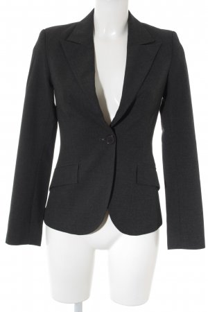 Zara Basic Jerseyblazer dunkelgrau Business-Look