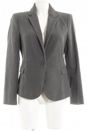 Zara Basic Jerseyblazer grau-blassblau Business-Look