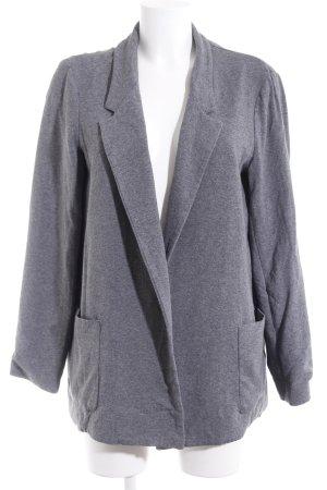 Zara Basic Jerseyblazer grau meliert Casual-Look