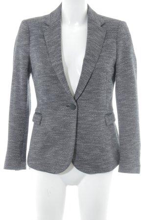 Zara Basic Jerseyblazer grau-schwarz meliert Business-Look