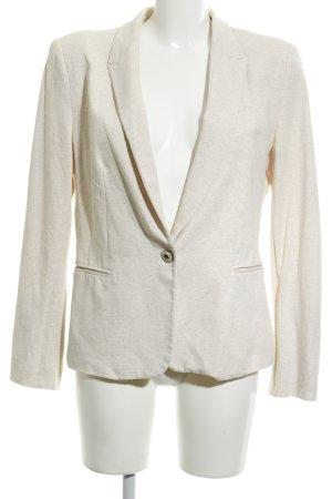 Zara Basic Jersey blazer licht beige casual uitstraling