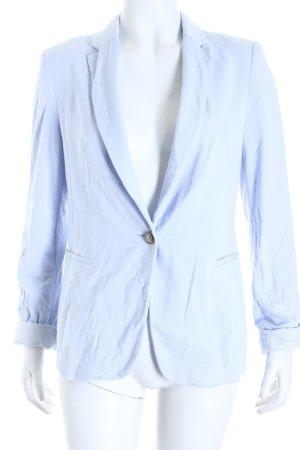 Zara Basic Jerseyblazer hellblau-weiß Casual-Look