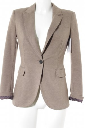 Zara Basic Jerseyblazer hellbraun meliert Business-Look