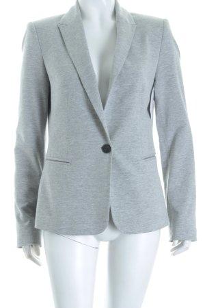 Zara Basic Jerseyblazer hellgrau Casual-Look