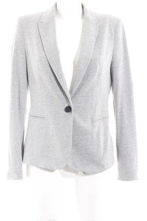 Zara Basic Jersey Blazer gris claro moteado look casual
