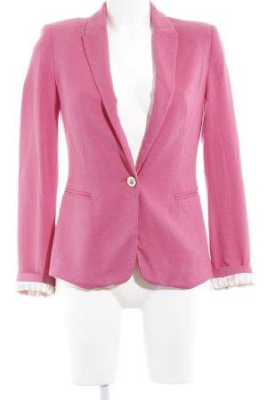 Zara Basic Jerseyblazer magenta Casual-Look
