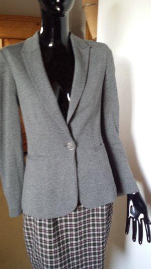 ZARA Basic, Jerseyblazer, schmal geschnitten grau, Gr. XS