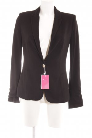 Zara Basic Jerseyblazer schwarz Business-Look