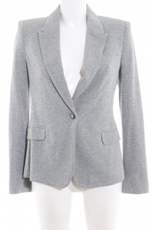 Zara Basic Jerseyblazer silberfarben meliert Business-Look