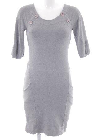 Zara Basic Jerseykleid hellgrau Casual-Look