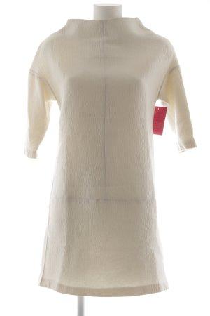 Zara Basic Jerseykleid wollweiß klassischer Stil