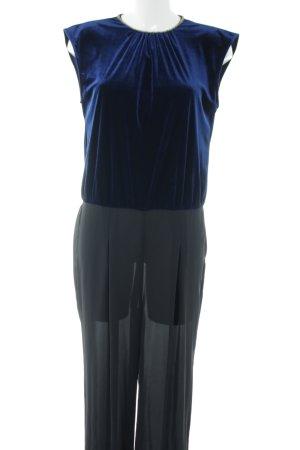 Zara Basic Jumpsuit blau Elegant