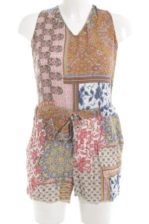 Zara Basic Jumpsuit abstraktes Muster Casual-Look