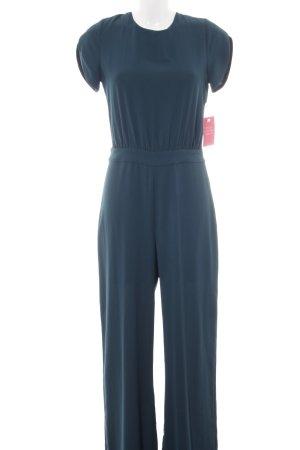 Zara Basic Jumpsuit blau-schwarz Elegant