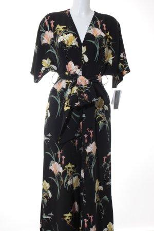 Zara Basic Jumpsuit Blumenmuster Street-Fashion-Look