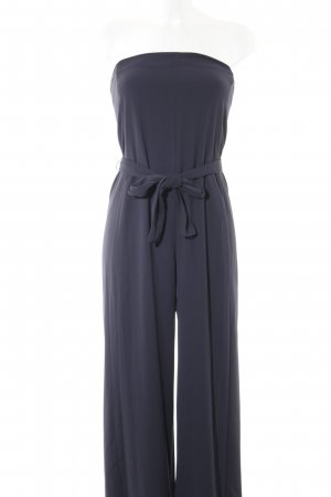Zara Basic Jumpsuit dunkelblau Casual-Look
