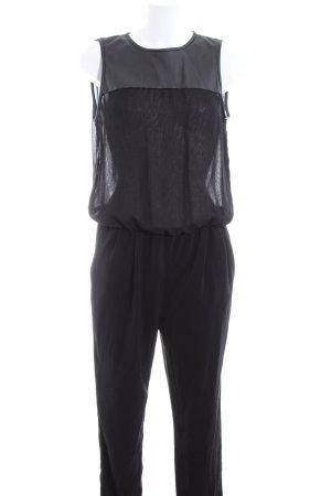 Zara Basic Combinaison noir-gris clair style décontracté
