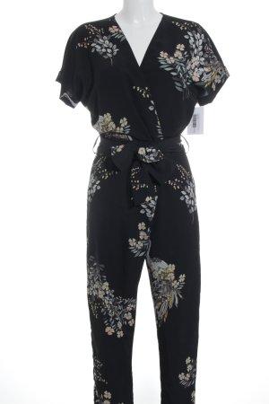 Zara Basic Jumpsuit florales Muster Beach-Look