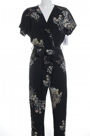 Zara Basic Jumpsuit florales Muster Beach-Look