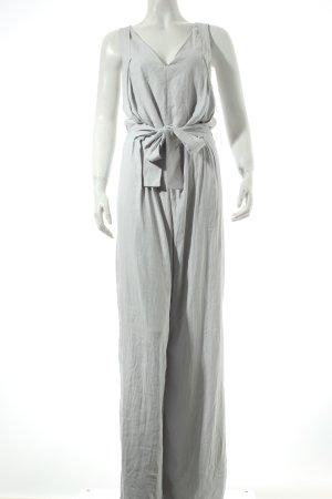 Zara Basic Jumpsuit hellgrau Street-Fashion-Look